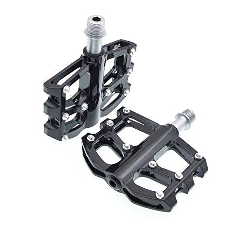 iParaAiluRy Mountain Bike Pedals – MTB Magnesium Platform Pedals, CNC Steel Axle 9 16 Black