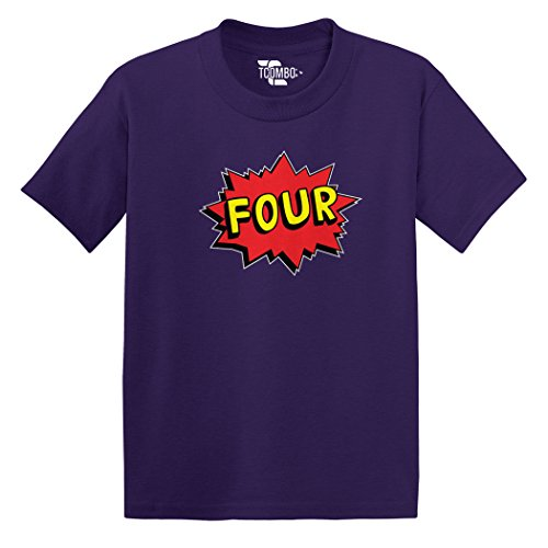 Four Superhero - Fourth 4th Birtday, Anniversary - Toddler Little Boy/Infant T-Shirt (2T, -