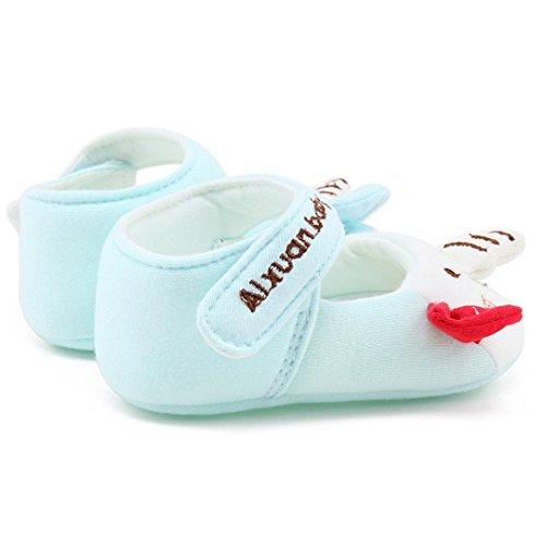 wuayi Baby Mädchen Lauflernschuhe Blau