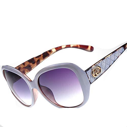 2018 new ladies Sunglasses fashion sunglasses trend tide brand mirror 2256,C02 Bean Flower Top Purple ()