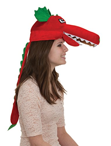 [25365 Red Dragon Hat W Spine] (Puff The Green Dragon Dress)