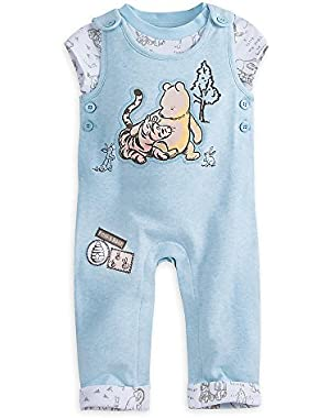 Winnie The Pooh Layette Knit Dungaree Set for Baby