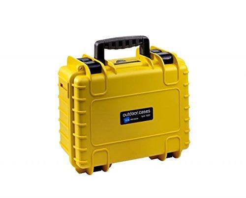 B&W International Type 3000 Outdoor Case with Custom GoPro Insert, Yellow
