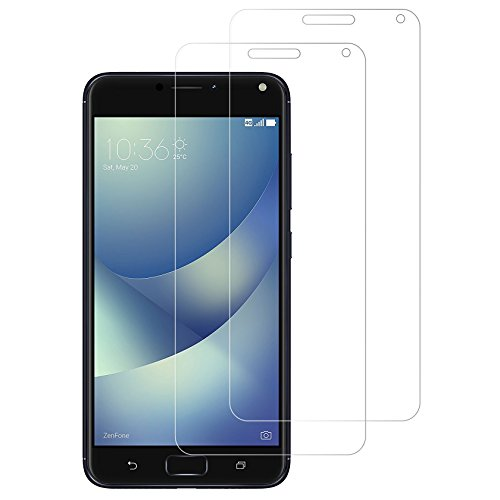 (Pack of 2) Gzerma ASUS Zenfone 4 Max 5.5 Inch Screen Protector, [Ultra Clear] [High Definition] [Easy to Install] Shockproof Front Protective Cover Film ASUS Zenfone4 Max ZC554KL Smartphone