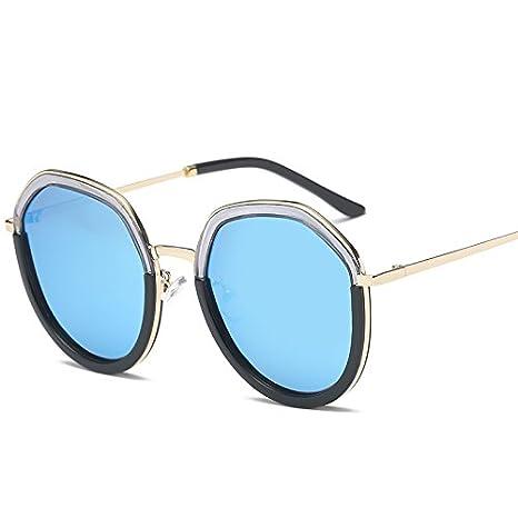 VVIIYJ Occhiali da sole faccia tondi sottili da donna con occhiali da vista graduati con visiera lunga sul viso ,Golden Frame Champagne