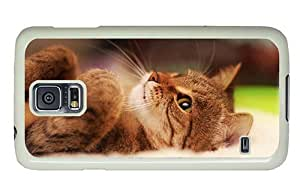 Hipster Samsung Galaxy S5 Case designer covers cute kitty hd PC White for Samsung S5