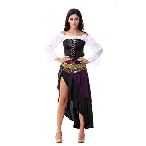 Ladies Sexy Captains Treasure Caribbean Pirate Halloween Fancy