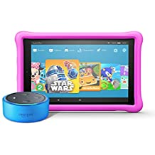 Echo Dot Kids Edition + Fire HD 10 Kids Edition (Blue/Pink)