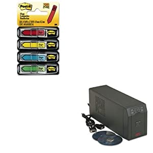 KITAPWSC620MMM684SH - Value Kit - Apc Smart-UPS Battery Backup System (APWSC620) and Post-it Arrow Message 1/2amp;quot; Flags (MMM684SH)