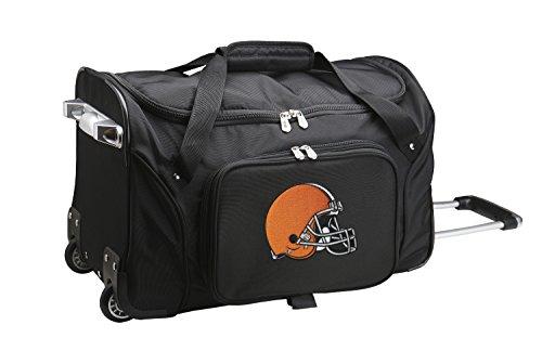 NFL Cleveland Browns Wheeled Duffle Bag, 22 x 12 x 5.5
