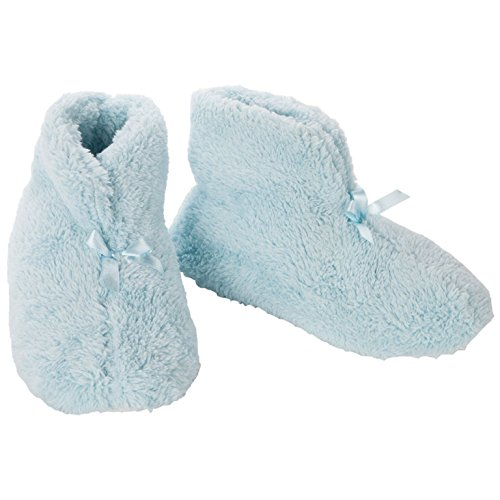 Trenton Gifts Plush Slip Resistant Chenille Slippers | Blue (Large) ()