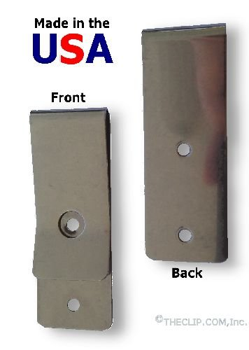 (Metal Belt Holster Clip (631SS), Stainless Steel, Tempered SteelPROUDLY Made in)