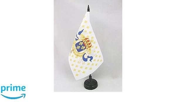 AZ FLAG Bandera de Mesa del Rey DE Francia Flor DE lis 21x14cm ...