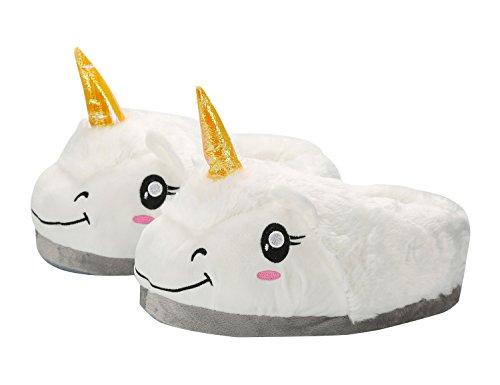 Di Pantofole Cosplay Regali Animali White Magico Halloween adulto Unicorno Unisex Peluche Taglia Festa awYxqzvar
