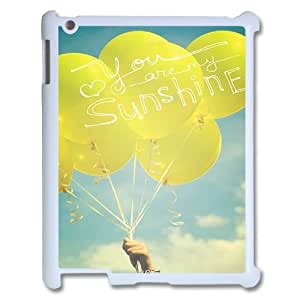 DIY iPad2,iPad3,iPad4 Cover Case, You Are My Sunshine quote Customized Cell Phone Case