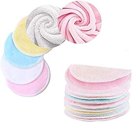 Almohadillas de algodón reutilizables, 16 piezas Almohadillas ...