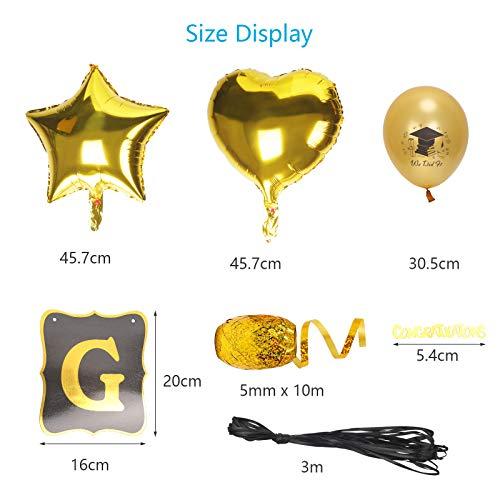 LOPOTIN 30Pcs Graduation Decorations Grad Party Balloon Set with