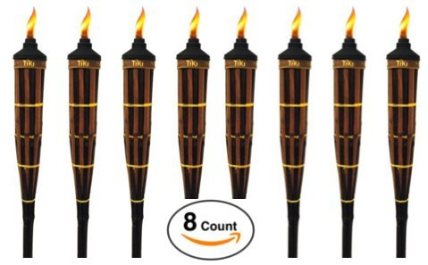 Bamboo Lantern Stand (TIKI Brand Royal Polynesian Torch - Set of 8 (CANNOT SHIP TO CALIFORNIA)