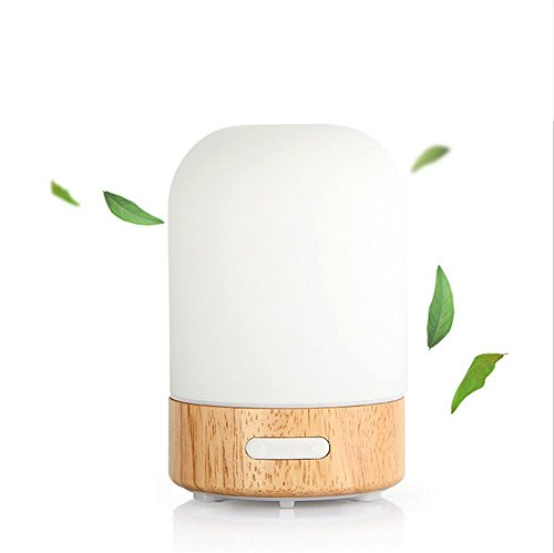 TRADE Timing Function Adjustable Spray Mode 100ML Ultrasonic Mute Atomization Waterless Protection Colorful Wood Grain Humidifier Essential Oils Aromatherapy Air Purification Diffusers