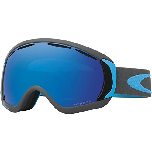 Oakley Men's Canopy Snow Goggles, Iron Sapphire, Prizm Sapphire Iridium, - Goggles Oakley Blue Ski