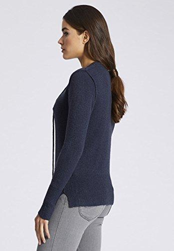khujo - Pull - Uni - Manches Longues - Femme Small Bleu