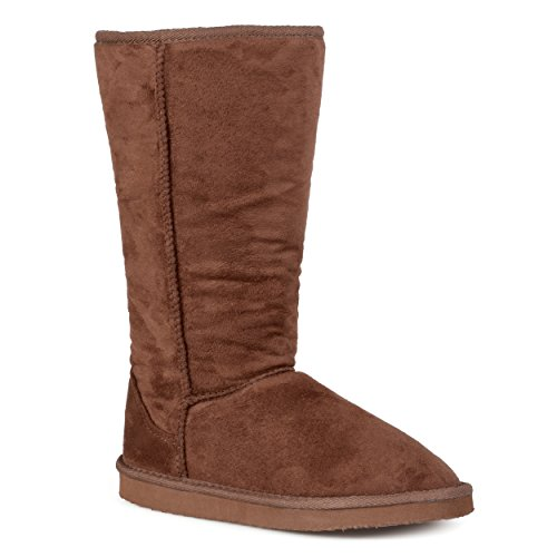 Journee Insamlings Damer 12 Tum Faux Mocka Boot Brun