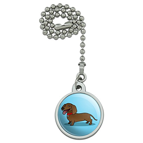 Dachshund Lighting - GRAPHICS & MORE Dachshund Wiener Dog Cartoon Ceiling Fan and Light Pull Chain