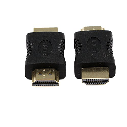 HDMI Male to Male Adapter,SinLoon 19 Pin HDMI Male Type A to HDMI Male Type A M/M Extender Adapter Converter Coupler Connector for HDTV(2-Pack,Gold Plated)
