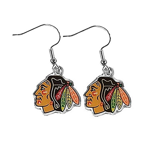 - NHL Chicago Blackhawks Logo Dangler Earrings