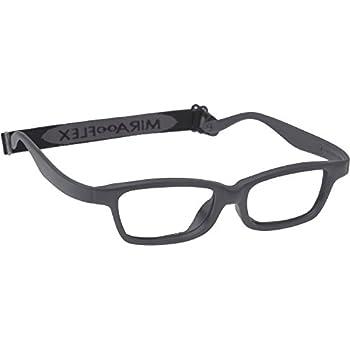 1c1f6f68888 Miraflex MAYA Modified Eye Glass Frame w  Extended Heel 42 15 Dark Gray