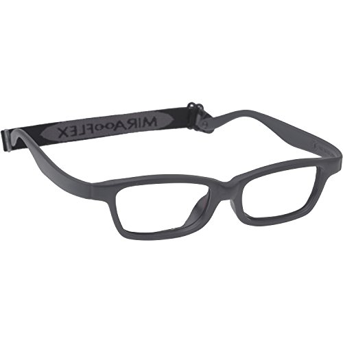 Miraflex MAYA Modified Eye Glass Frame w/ Extended Heel 42/15 Dark Gray from Miraflex