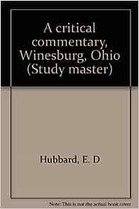Critical essays on winesburg ohio