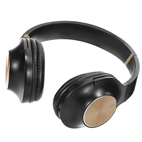 Wireless Headphones Over Ear Stereo Bluetooth Headset with Microphone Comfortable Memory-Protein Earpads Long Playtime Noise Canceling Headphones for Cellphone Tablet-C3