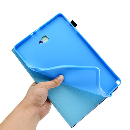 Bookstyle Closure A Magnetic T585 1 Tab PU Cover Samsung T580 Sleep Unicorn of Leather Wake Inch Pattern Folding Ultra LMAZWUFULM Case 1 for Auto thin Galaxy Leather with 6 Color Function 10 10 Golden qTz0AUxw
