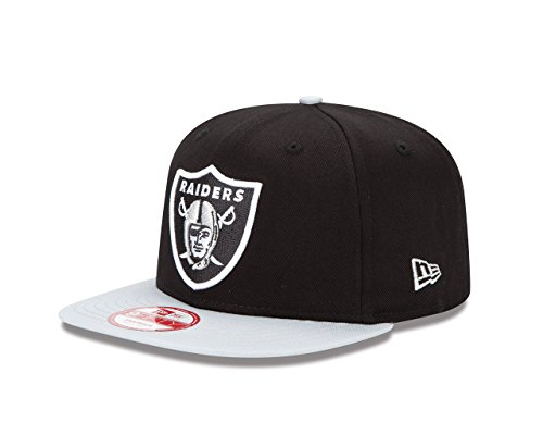 New Era NFL Oakland Raiders Baycik Snap 9Fifty Snapback Cap, Small/Medium, Black