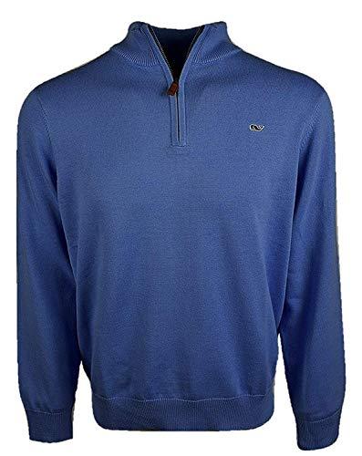 Vineyard Vines Men's Cotton 1/4-Zip Pullover Sweater - Moonshine (Small, Moonshine)