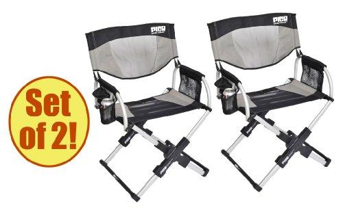 Amazon.com : Set Of 2   PICO ARM CHAIR Telescoping Directoru0027s Chair :  Camping Stools : Sports U0026 Outdoors