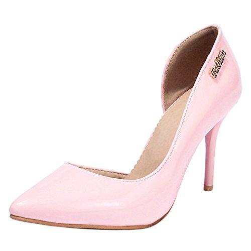 Coolcept Escarpins Femmes Chaussures de Travail Mariage Soiree Pink-1 nuXRPM
