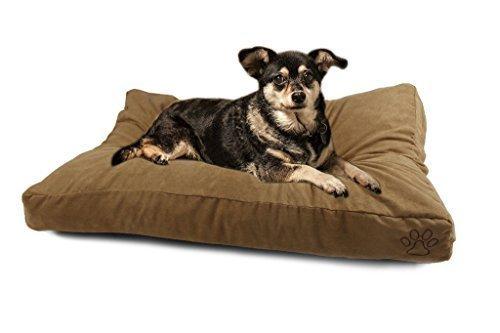 4 Pets DIY Dog Cushion Cover Pet Mat Case Do It Yourself Khaki Color Suede L by 4pets