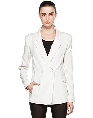 Theory Theyskens Jigal Virgin Wool / Silk Blazer Jacket Ivory Stone 6