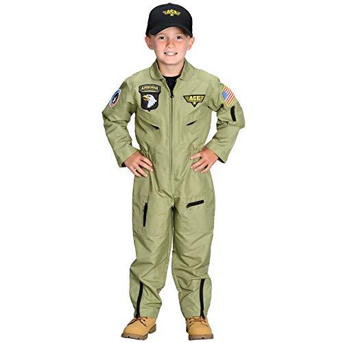 Jr. Armed Forces Pilot Suit with Helmet, Size 4/6 -