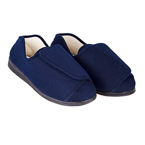EZSIMPLY Adjustable Diabetic Slipper Arthritis Swollen Feet (10 D(M) US) Blue (Home Remedy For Swollen Feet Due To Arthritis)