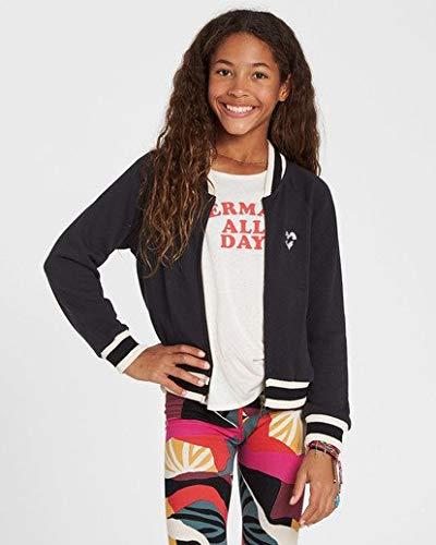 Billabong Girls' Girls' Girls' Rule Zip-Up Sweatshirt Black Large ()