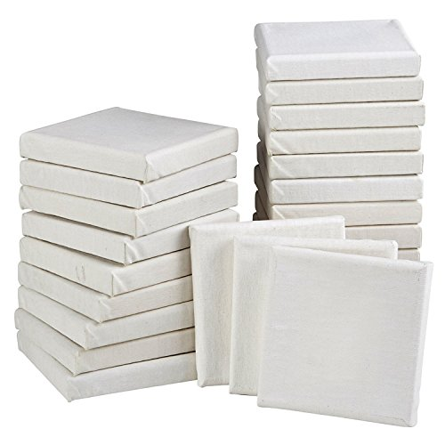 Mini Stretched Canvas (4x4, White - 24 Pack)