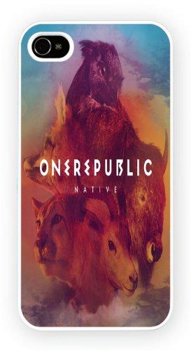 One Republic Native, iPhone 4 4S, Etui de téléphone mobile - encre brillant impression