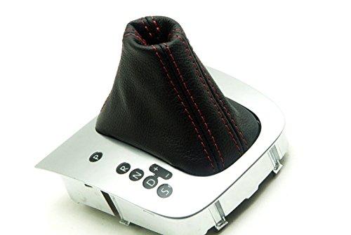 (VW Jetta Vento Bora MK5 05-10 Automatic Shift Boot Synthetic Leather Black, Red Stitch)