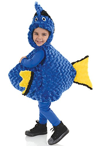 Underwraps Toddler's Blue Tang Fish Belly Babies Costume, Blue, Extra Large (Toddler Girl Fish Costume)