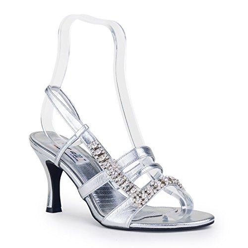 FARFALLA - Sandalias de vestir para mujer Plateado - plata