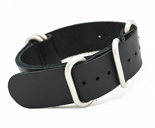 490e0d91478 MetaStrap 22mm Leather Watch Band Zulu Strap - Import It All