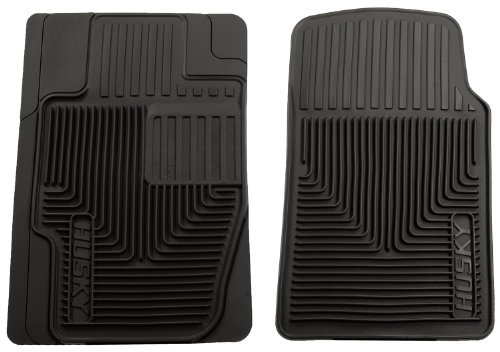 Husky Liners 51111 Semi-Custom Fit Heavy Duty Rubber Front Floor Mat - Pack of 2, Black (Firebird Car Mats compare prices)